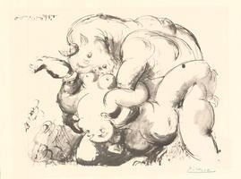Pablo Picasso: Minotaure et Femme nue