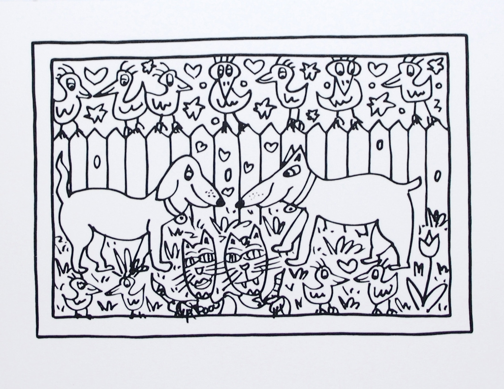 James Rizzi Images Coloring Page