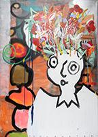 Paul Kostabi: The Flowerpot Head