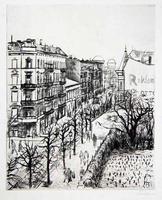 Hermann Teuber: Berliner Straßenszene