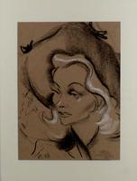Albert Hirschfeld: Portrait Marlene Dietrich