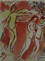 Marc Chagall: Adam und Eva. Vertreibung aus dem irdischen Paradies