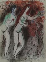 Marc Chagall: Adam und Eva und die verbotene Frucht