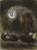 Marc Chagall: Ruth zu Füßen des Boas