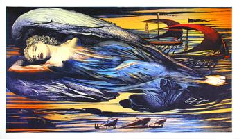 Ernst Fuchs: Engel über Wien