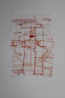 Hermann Nitsch: Die Architektur des OM Theaters - orange/rot