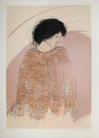 Riccardo Benvenuti: Frau in gestreiftem Kleid
