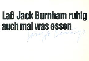 Joseph Beuys: Jack Burnham