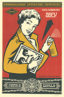 Shepard Fairey: Obey Stay Up Girl