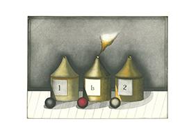 Friedrich Meckseper: Drei Flaschen