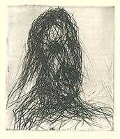 Max Uhlig: Frauenkopf (mit stützender Hand)