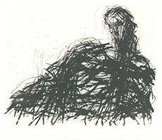 Max Uhlig: Frau mit großem Schulterstück
