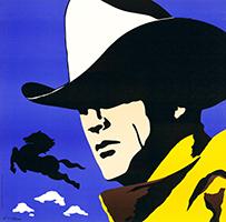 Antonio de Felipe: Cowboy - blue