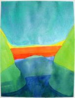 Willibrord Haas: Zartes Grün, zartes Blau, starkes Rot