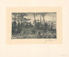 Josef Steiner: Balzende Auerhähne