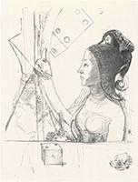 Odilon Redon: Frau mit Haube
