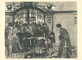 Odilon Redon: Menschen vor dem Tor