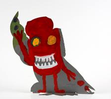 Volkmar Schulz-Rumpold: Monstereule mit weißen Zähnen