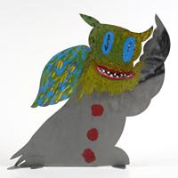 Volkmar Schulz-Rumpold: Monstereule mit bunten Flügel