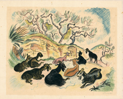 Richard Seewald: Ziegen auf der Bergwiese