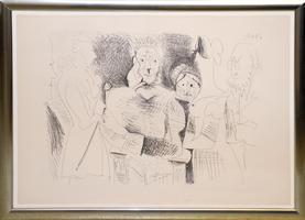 Pablo Picasso: Portrait de famille, six personnages, 6.7.1962; Mougins
