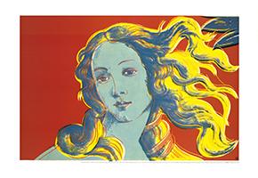 Andy Warhol: Sandro Botticelli, Birth of Venus - red