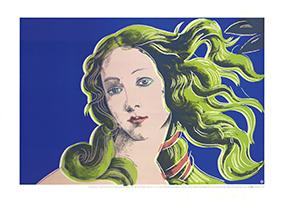 Andy Warhol: Sandro Botticelli, Birth of Venus - blue