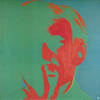 Andy Warhol: Self-Portrait - green