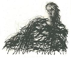 Max Uhlig: Frau mit großem Schultertuch