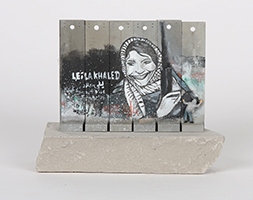 Banksy: Wall Section (Leila Khaled)