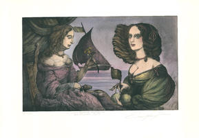 Ernst Fuchs: Zwei Damen