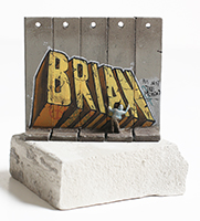 Banksy: Wall Section (Brian)