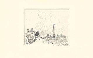 Johan-Barthold Jongkind: Le deux Barques a Voile