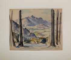 Friedrich Ludwig: Ausblick ins Tal