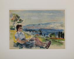Friedrich Ludwig: Sitzende vor See