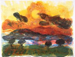 Christian Kruck: Landschaft mit Pinien