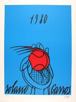 Valerio Adami: Roland Garros (bleu)