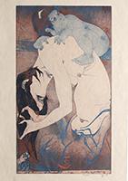 Horst Janssen: Huckepack - aus Kitagawa Utamaro