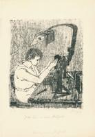 Max Uhlig: Junge Frau an einem Prüfgerät