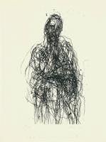 Max Uhlig: Sitzende Frau mit überschlagendem Bein