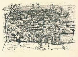 Max Uhlig: Hafen von Nessebar (Bulgarien)