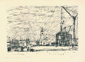 Max Uhlig: Berliner Landschaft mit Rathaus I