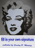 Andy (after) Warhol: Marilyn Monroe