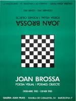 Joan Brossa: Galeria Joan Prats 1982/83