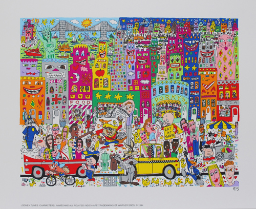 James-Rizzi-Eat-At-Porky-039-s-Farblitho-1995-2-D