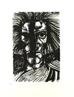 Ernst Fuchs: Kriegsgott - Aus: Kataklysmen