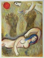 Marc Chagall: Boas erwacht und sieht Ruth zu seinen Füßen