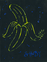 Shuby: Peace Banana (yellow and blue)