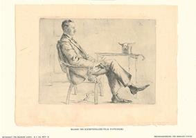 Hermann Struck: Bildnis des Schriftstellers Felix Poppenberg