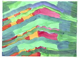 Willibrord Haas: Farbig gestapelte Dächer